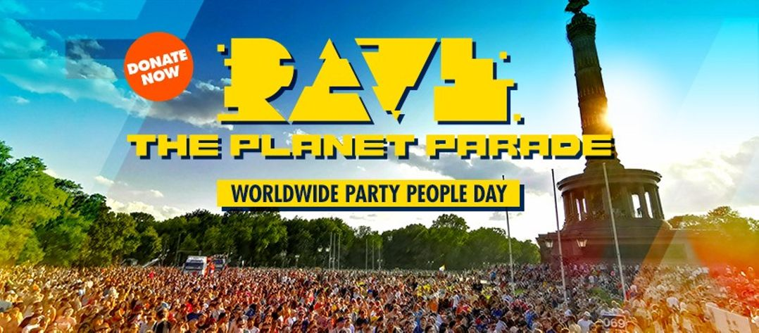 Rave the Planet Parade Logo
